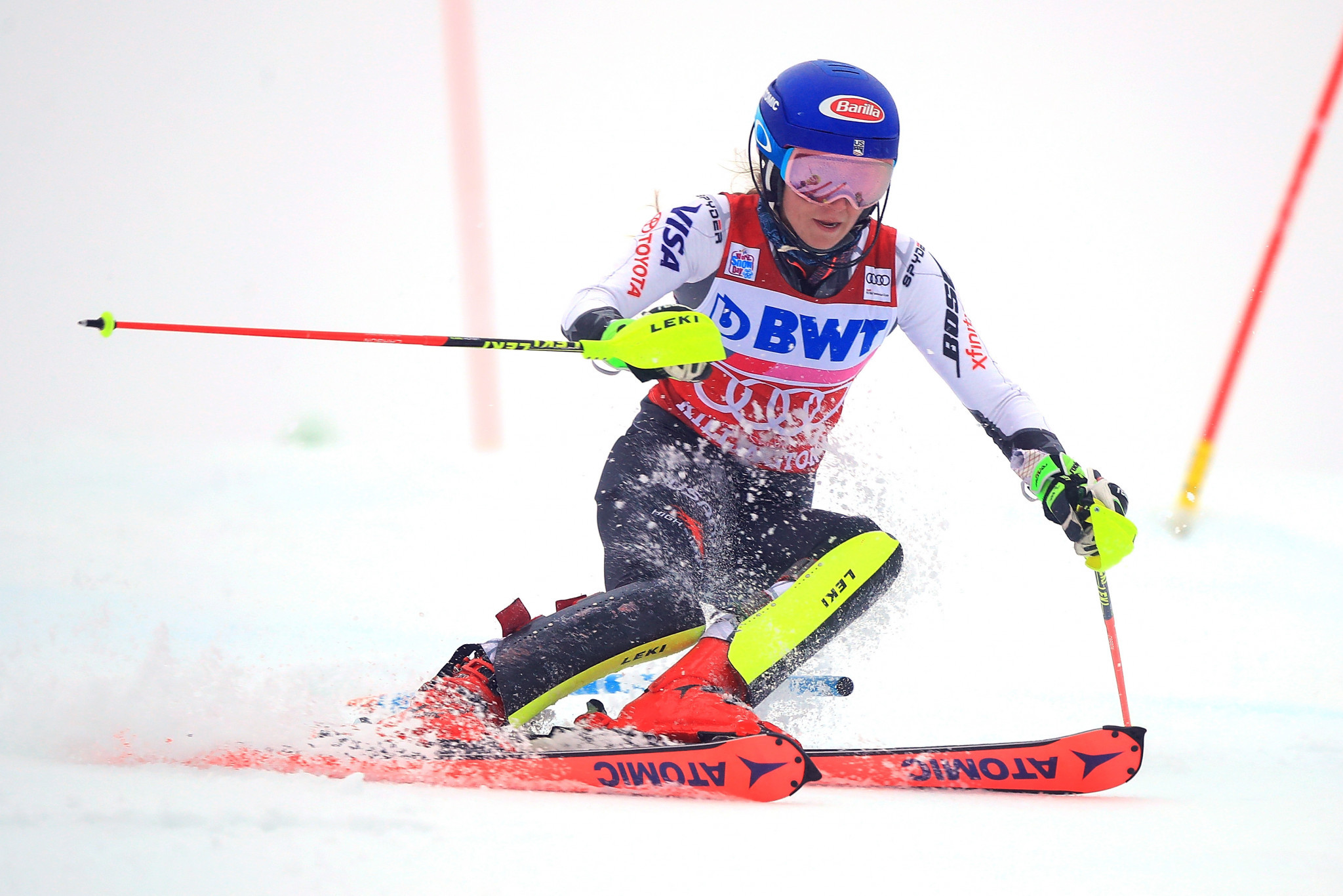 Shiffrin storms to home slalom victory at Alpine Skiing World Cup in Killington