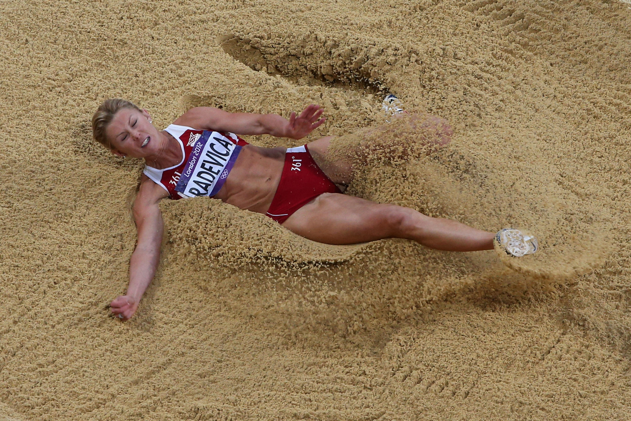 Ineta Radevica finished in fourth place at the London 2012 Olympics ©Getty Images