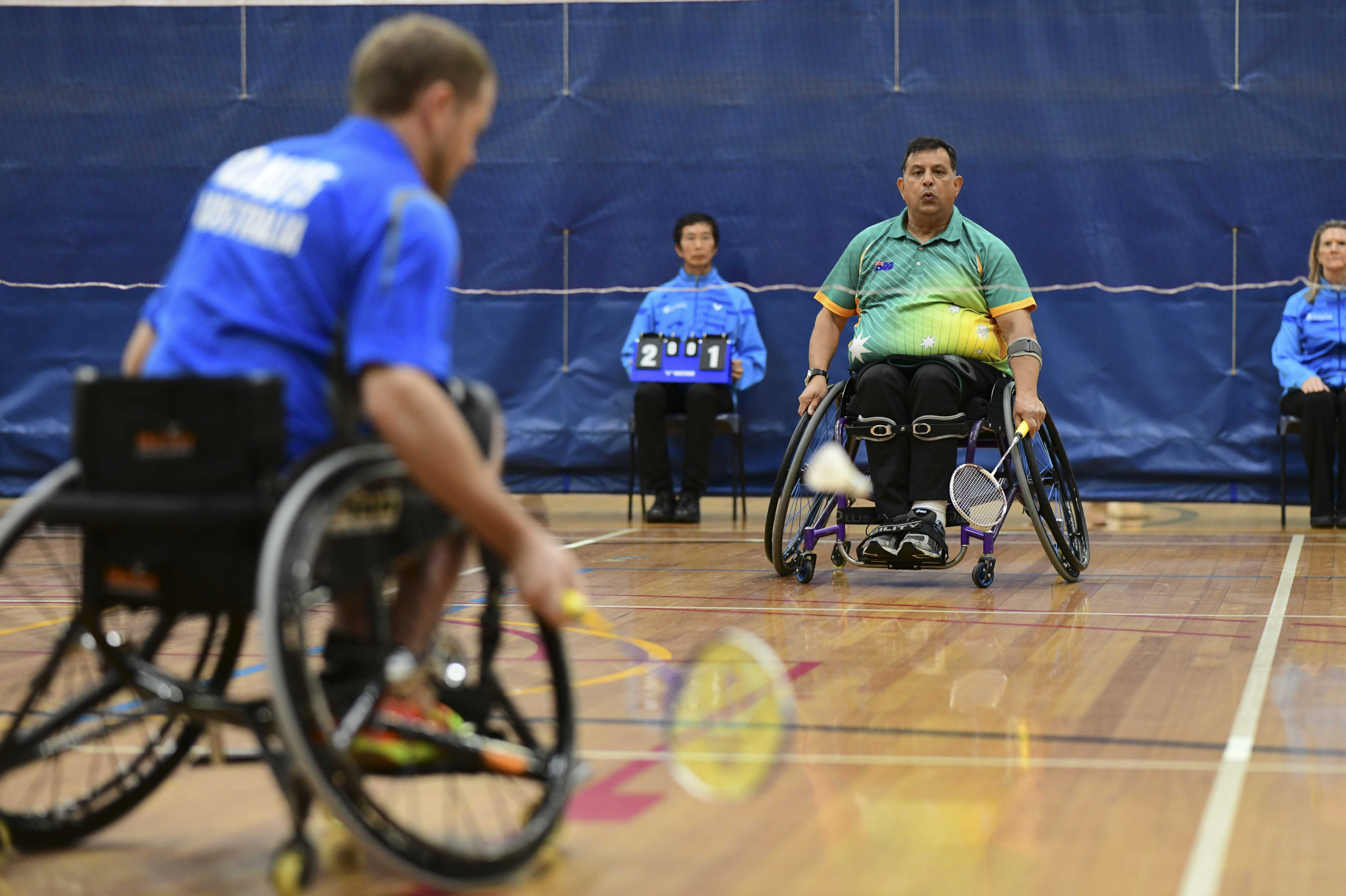 Australia's Richard Davis leads the way for the host nation at the Championships ©Oceania Para-Badminton