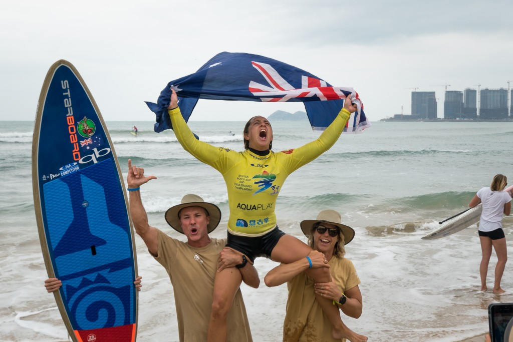 Australia's Westdorp completes hat-trick of victories at ISA World SUP and Paddleboard Championship