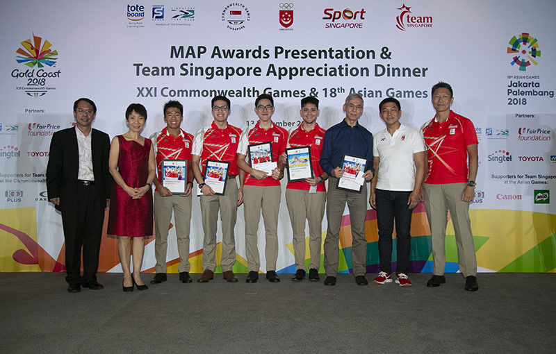 The Singapore National Olympic Council has rewarded 53 medallists with a total of SGD$2.57 million at the MAP Awards Presentation and Appreciation Dinner ©SNOC