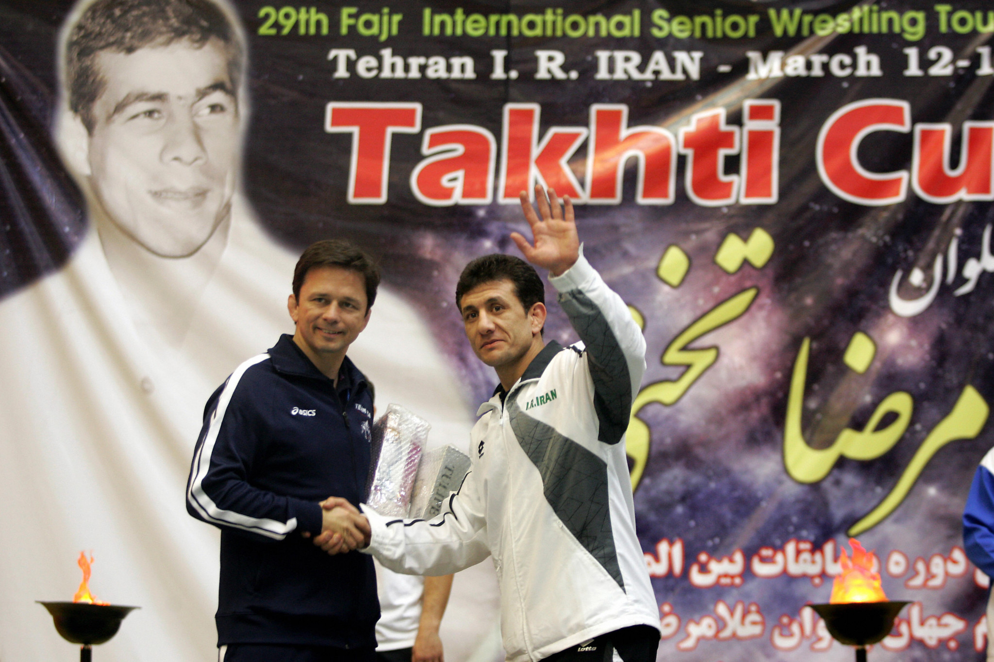 Gholamreza Mohammadi, right, has been named as the new freestyle head coach by the Islamic Republic of Iran Wrestling Federation ©Getty Images