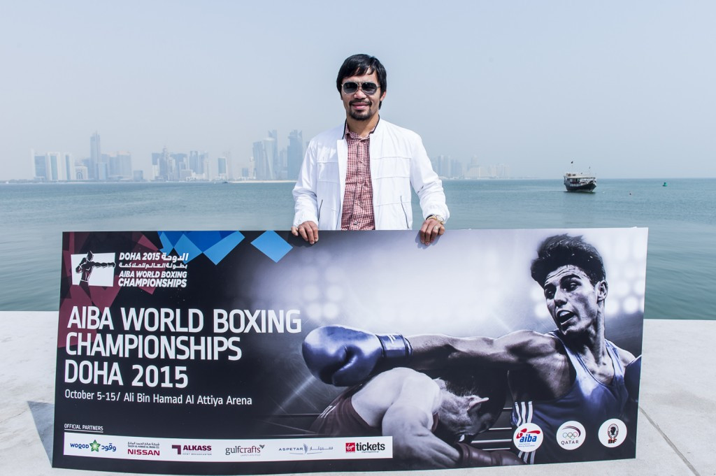 Pandemonium as Pacquiao pays visit to AIBA World Boxing Championships