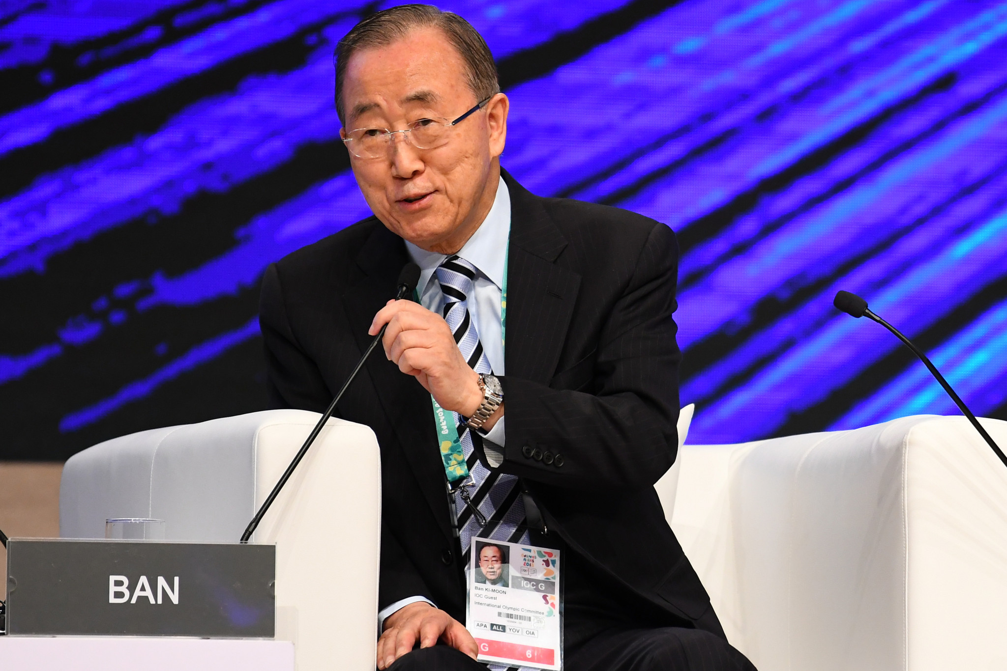 Former UN Secretary General Ban Ki-Moon was named as the independent IOC Ethics Commission chair last September ©Getty Images