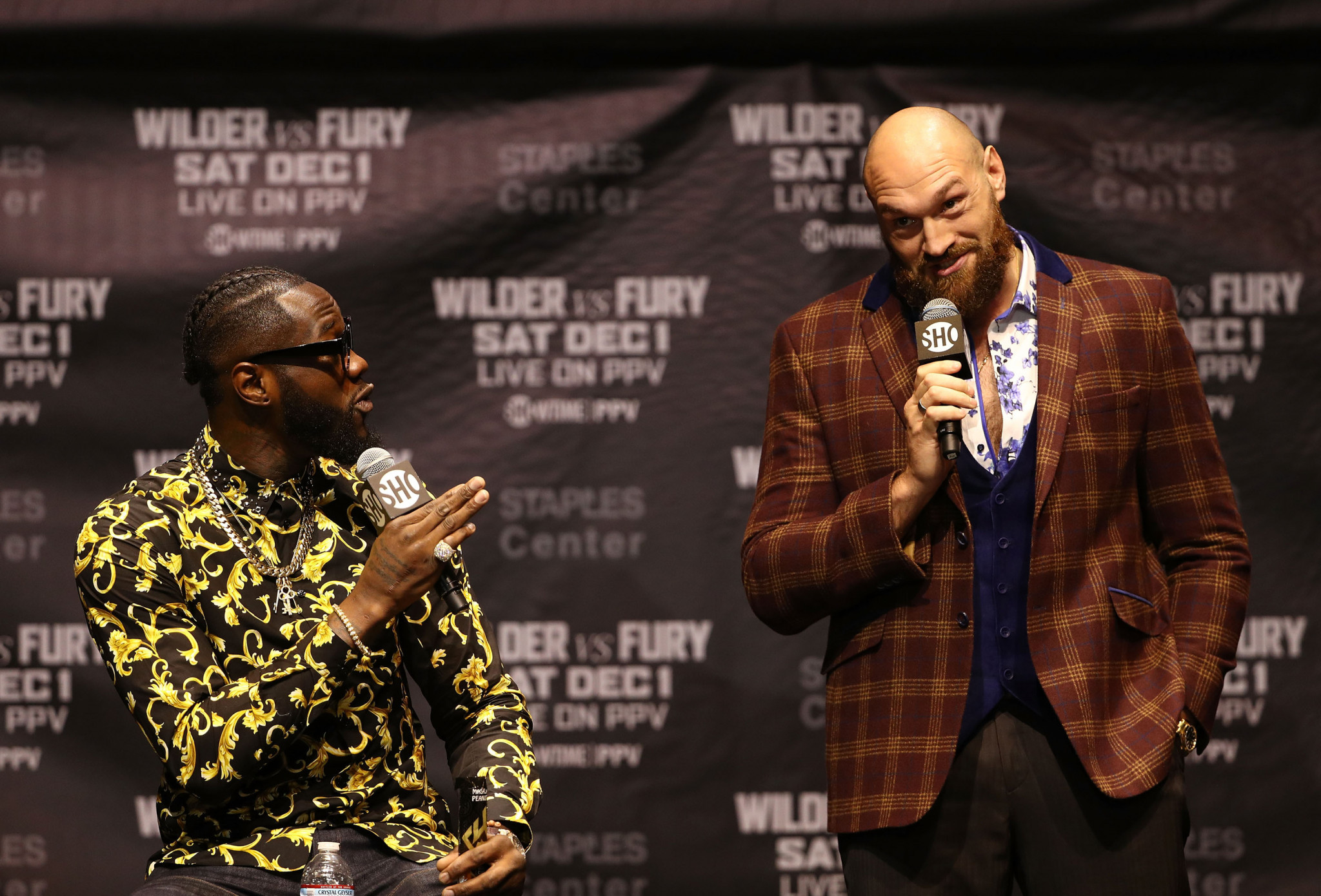 Deontay Wilder, left, and Tyson Fury are poised for an anticipated heavyweight showdown ©Getty Images