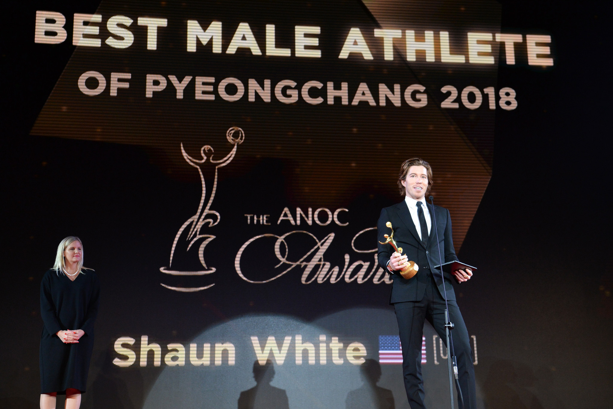 Shaun White was named best male athlete of Pyeongchang 2018 ©Getty Images