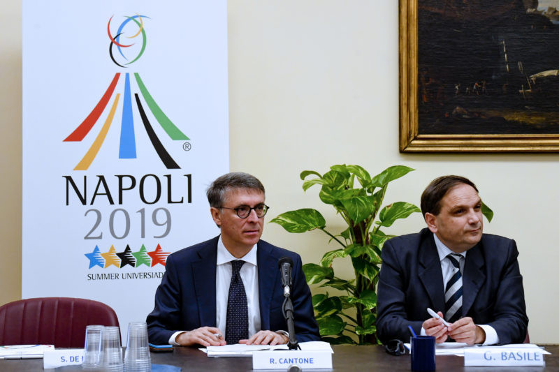 Naples 2019 Universiade Commissioner Gianluca Basile has revealed that the Torch Relay will begin on July 3 ©Naples 2019