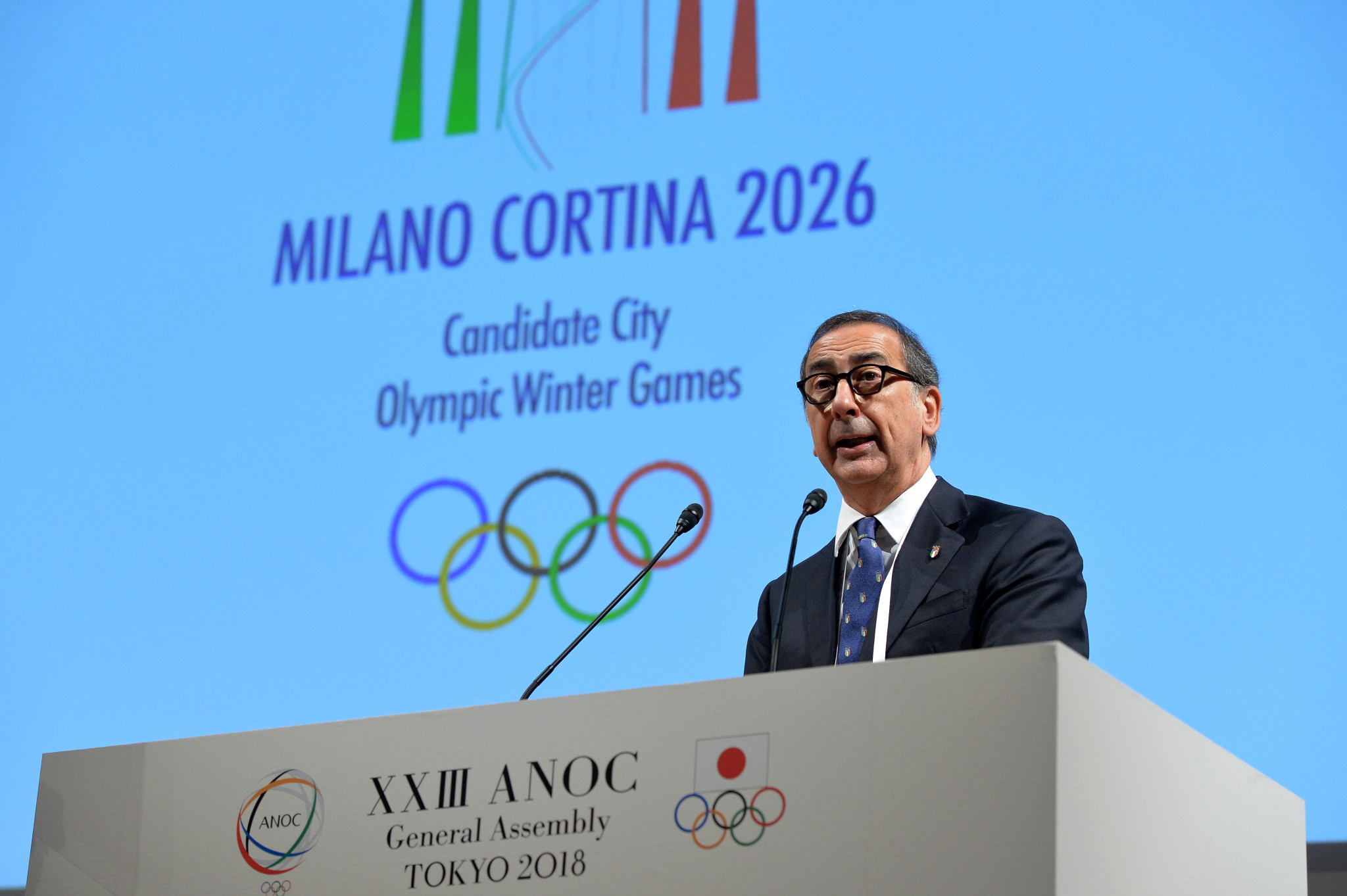 Milan Mayor Giuseppe Sala claimed the Italian bid for the 2026 Winter Olympic and Paralympics in tandem with Cortina d'Ampezzo would have a positive impact for local communities ©Getty Images