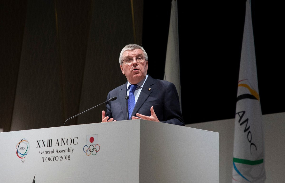 IOC President Thomas Bach gave a keynote address at the ANOC General Assembly in Tokyo ©IOC