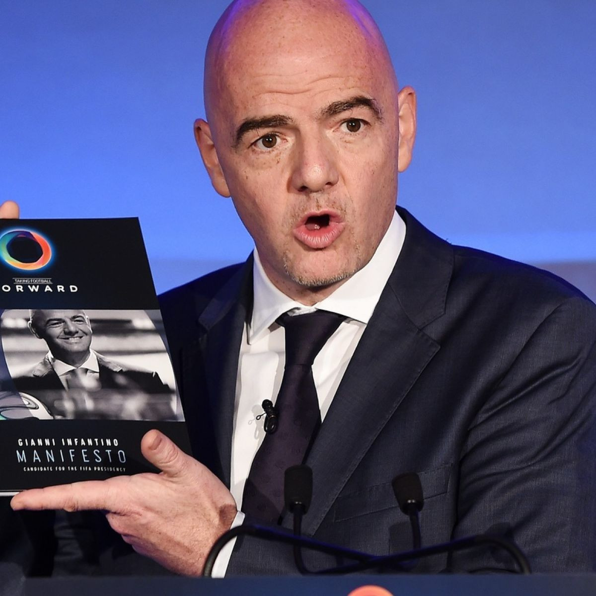 Gianni Infantino promised he would create extra wealth for Member Federations in his manifesto during his successful campaign to become FIFA President ©Getty Images