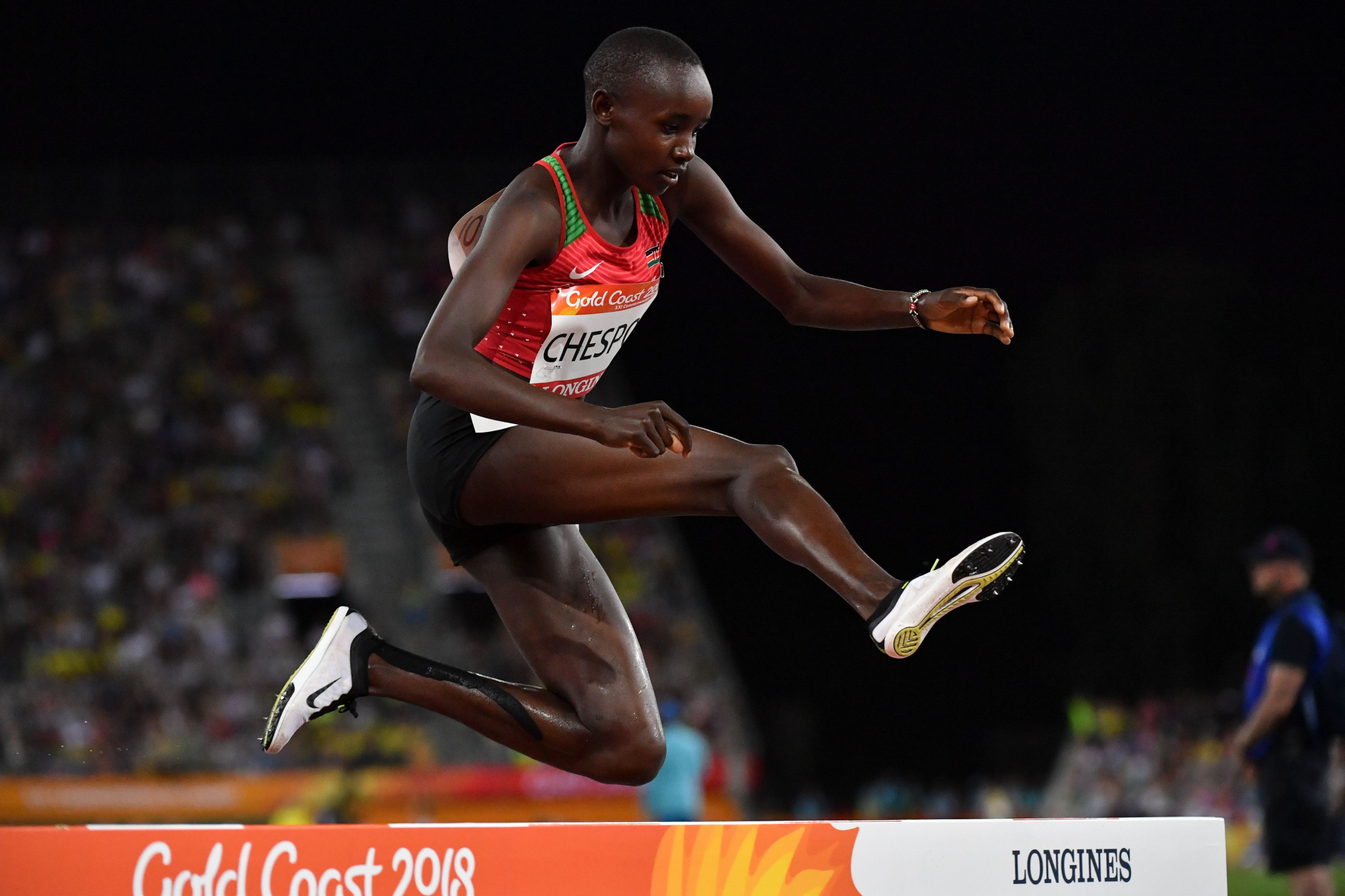 The performances of Celliphine Chespol, including winning a Commonwealth Games silver medal in the 3,000 metres steeplechase, saw her nominated for the female IAAF Rising Star Award @Getty Images