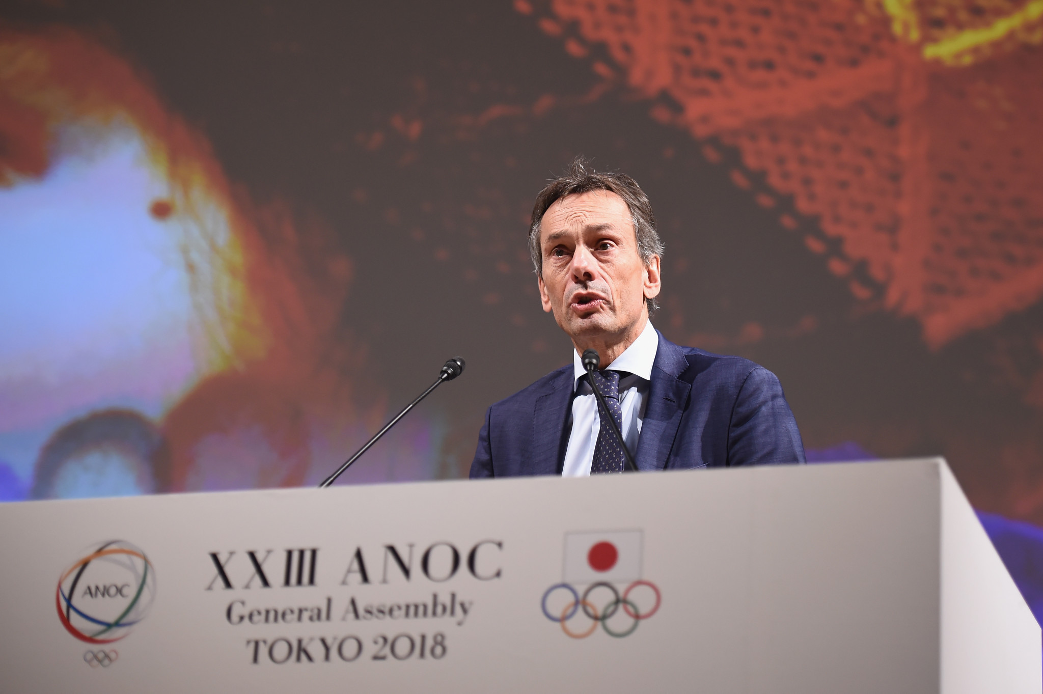 IOC director general Christophe de Kepper gave an update on Agenda 2020 ©Getty Images