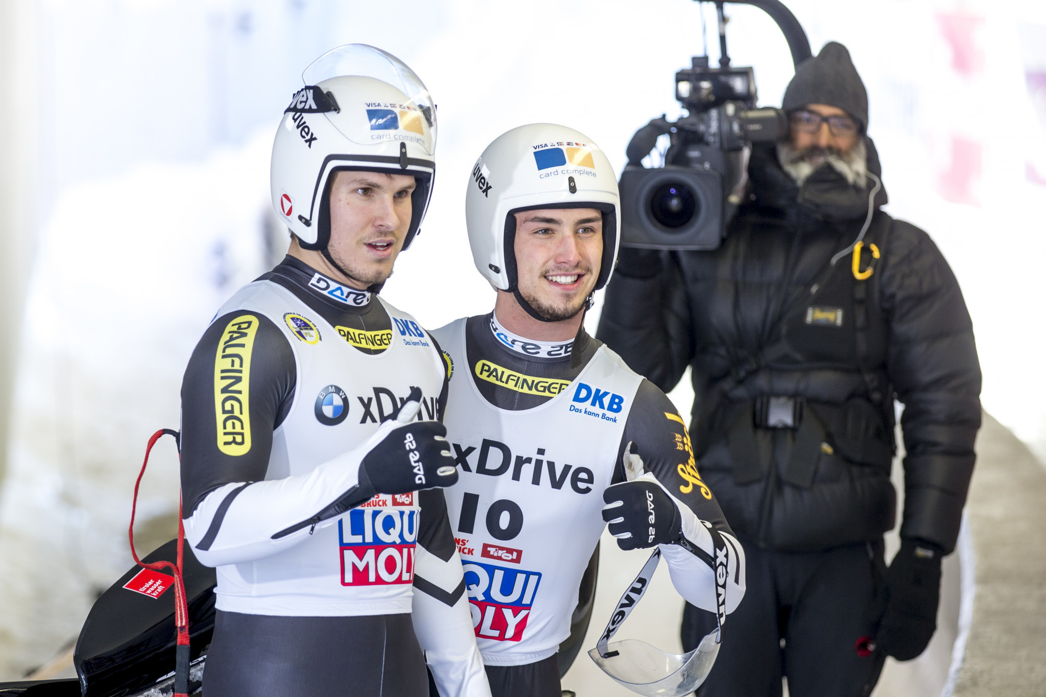 Austria's Thomas Steu and Lorenz Koller are currently in the lead in the doubles event of the Luge World Cup ©Getty Images