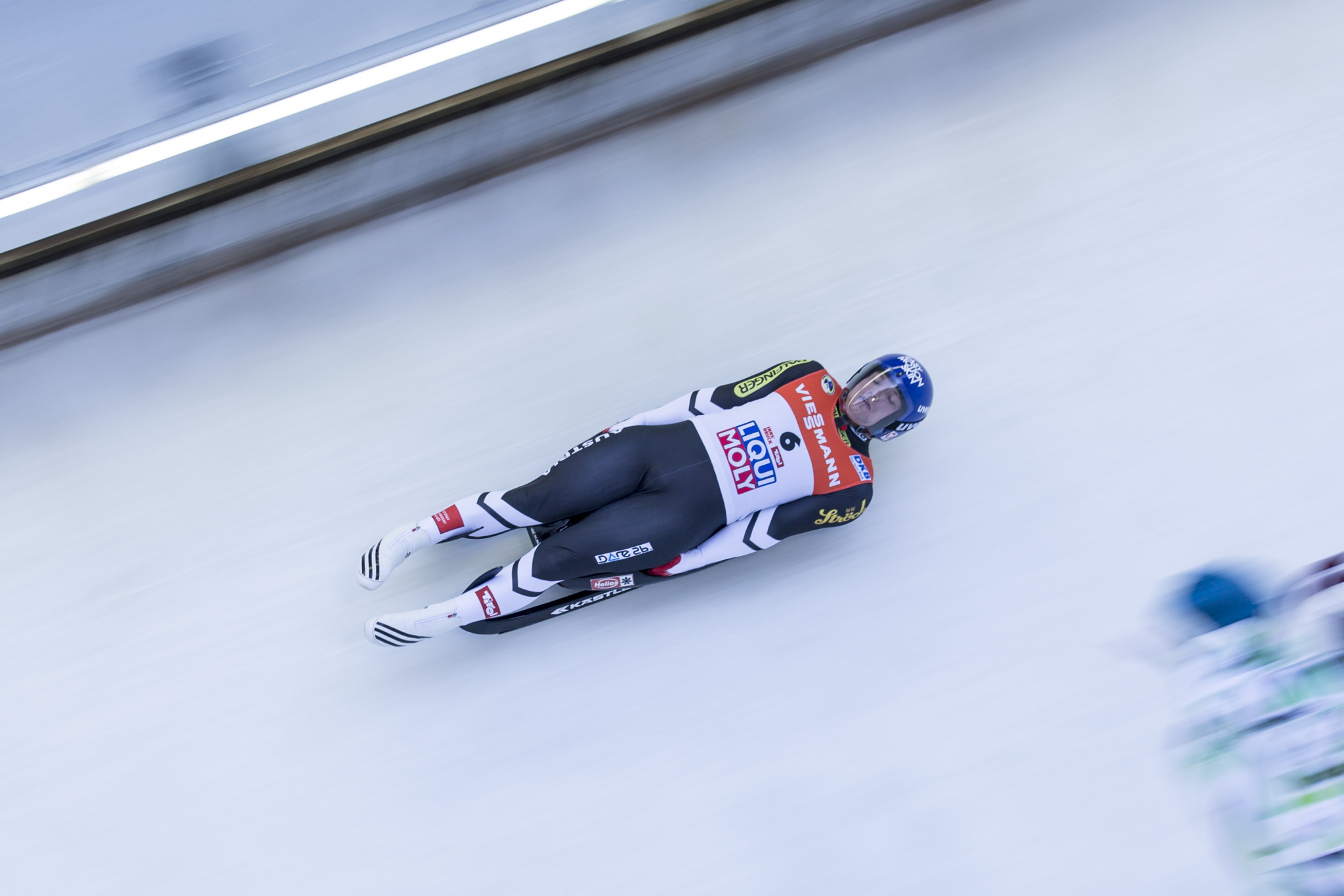 Wolfgang Kindl of Austria will look to extend his lead in the men's singles at the Luge World Cup in Whistler this weekend ©Getty Images