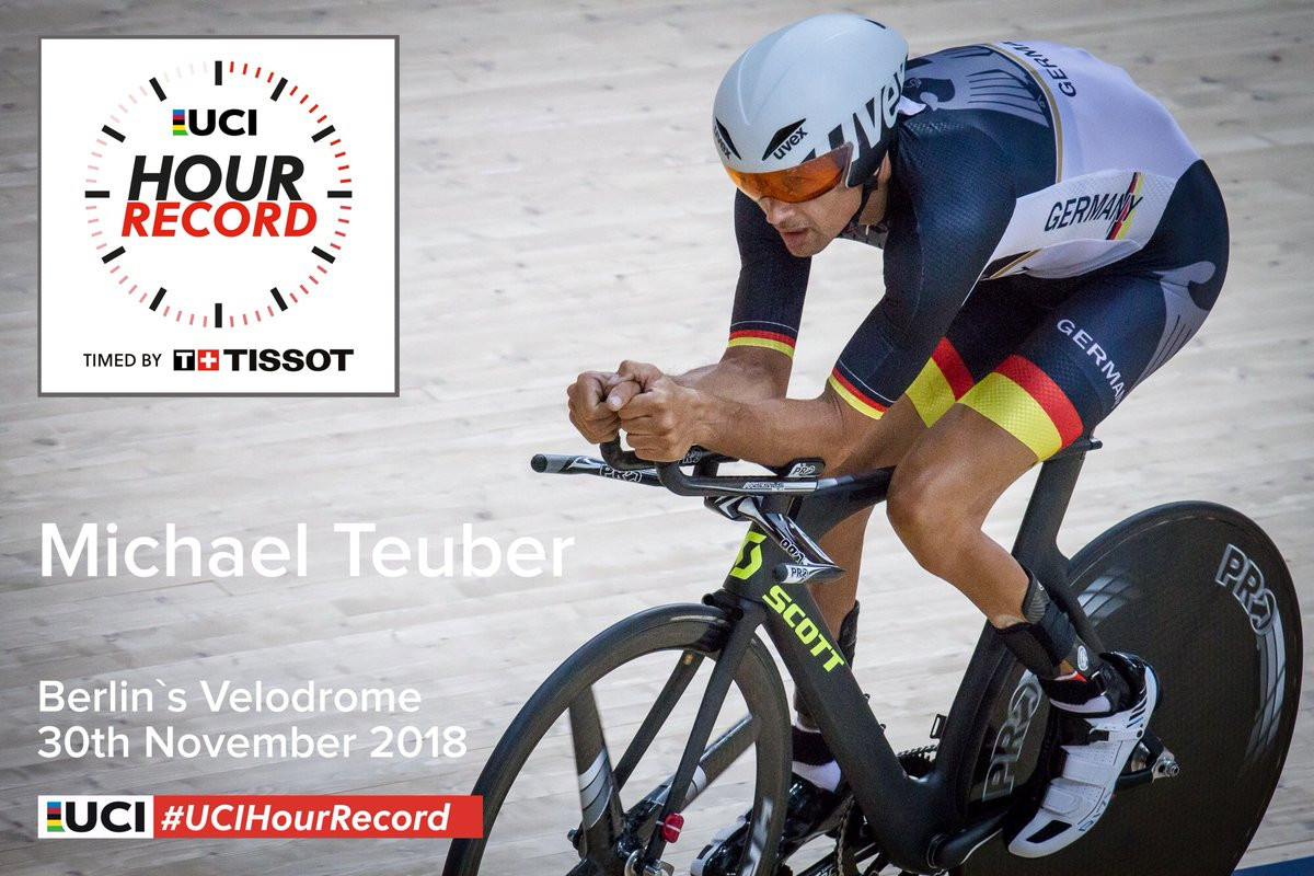 Michael Teuber, a five-time Paralympic champion, will perform an attempt for the International Cycling Union hour record tomorrow ©UCI Track Cycling/Twitter