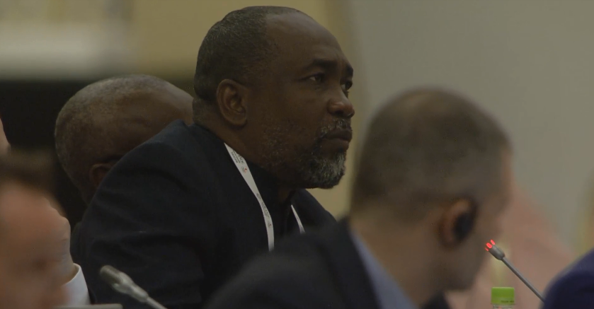 Saint Lucia's Alfred Emmanuel questioned the status of the loan for the second successive General Assembly ©Youtube