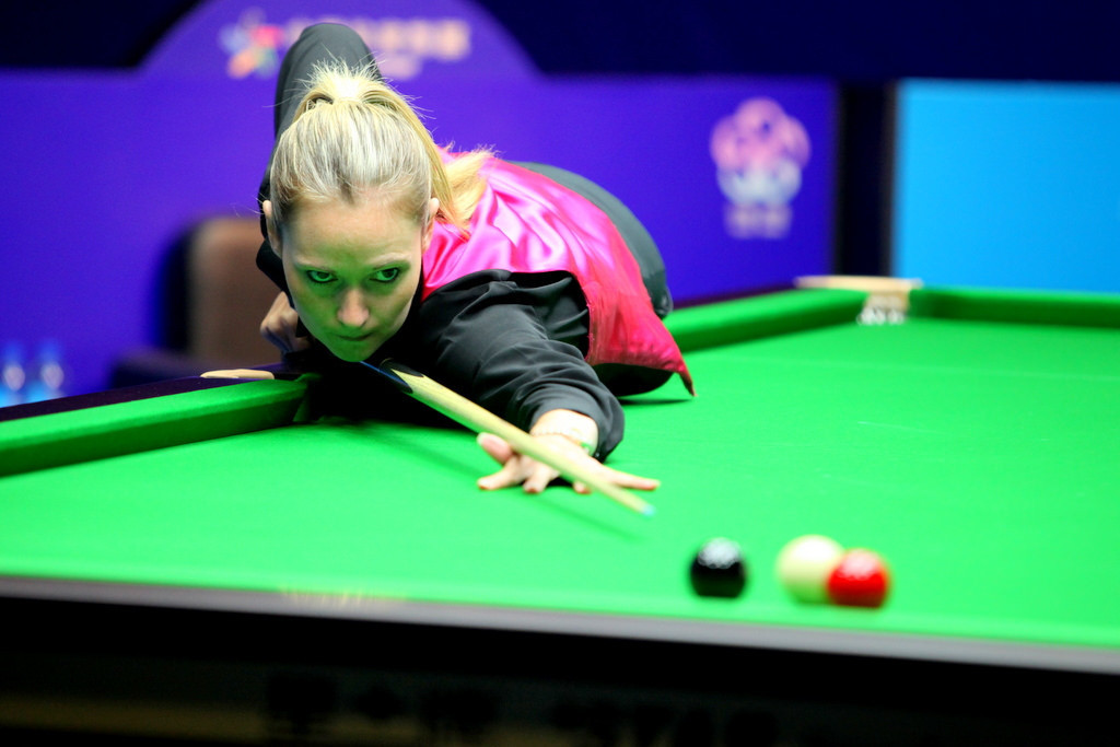 England's Reanne Evans has played against male competitors, something which World Women's Snooker will look to increase as the organisation gives women players more opportunity ©World Women's Snooker