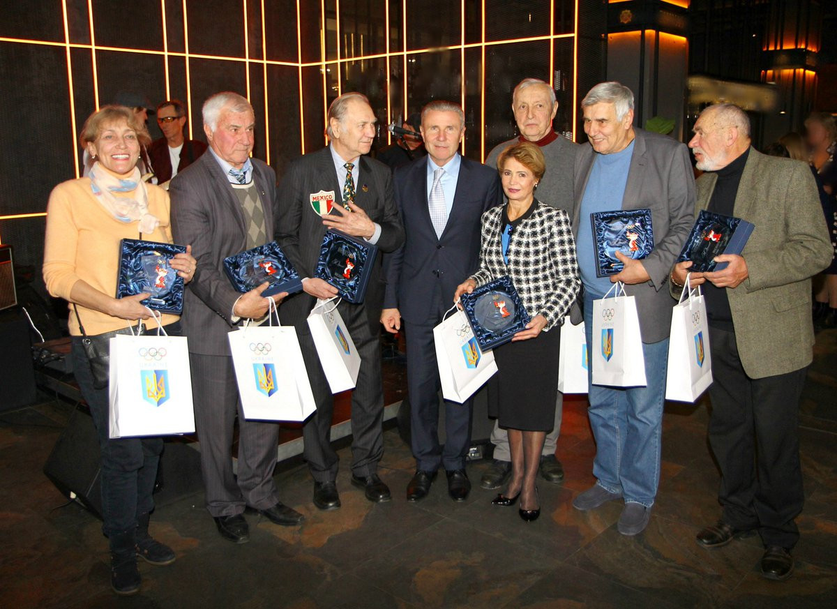 National Olympic Committee of Ukraine honour Olympic medalists from Mexico City 1968 and Seoul 1988