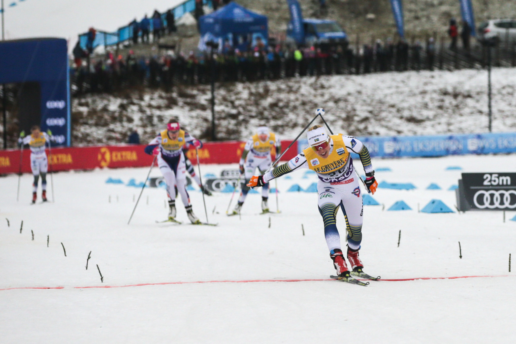 Sweden's Jonna Sundling tasted victory today at the FIS Cross-Country World Cup ©Getty Images