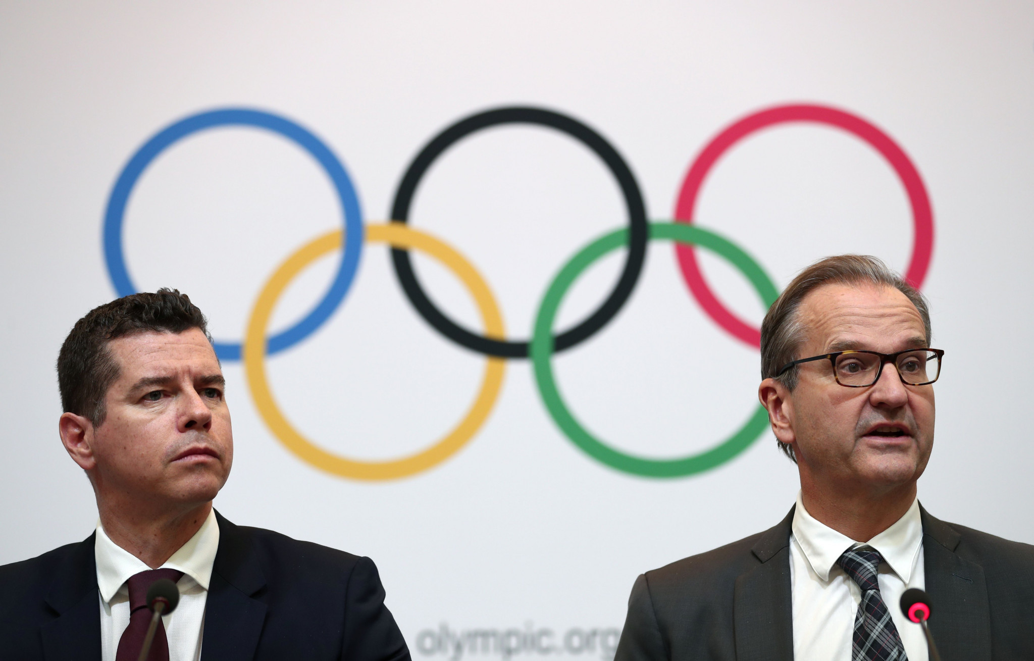IOC sports director Kit McConnell, left, has promised athletes they would do everything they can to hold an Olympic boxing tournament at Tokyo 2020 even if AIBA do not organise it ©Getty Iages