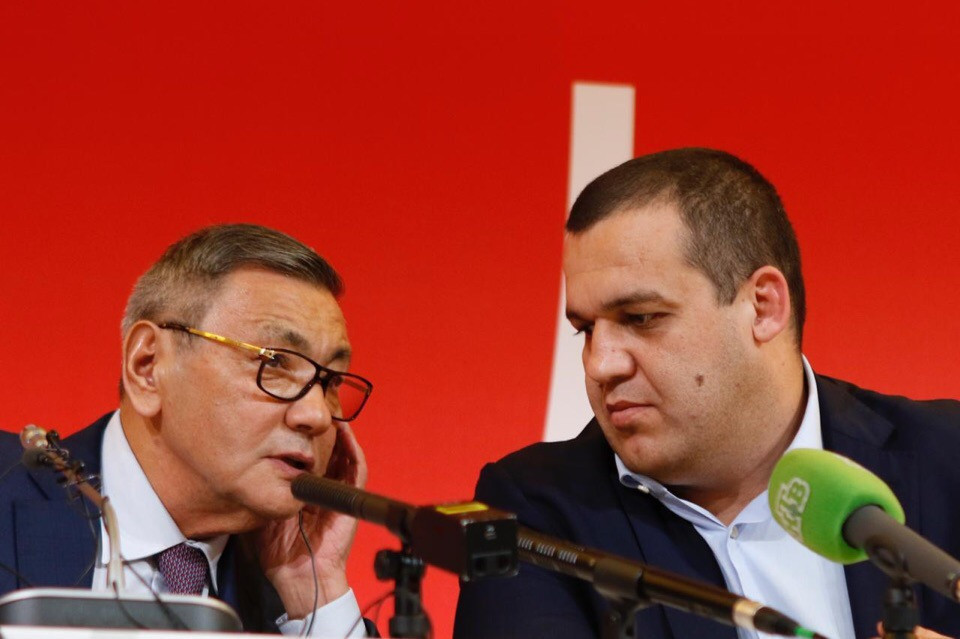 Russian Boxing Federation secretary general Umar Kremlev, right, a close ally of AIBA President Gafur Rakhimov, right, has criticised the IOC's decision to freeze preparations for Tokyo 2020 ©AIBA