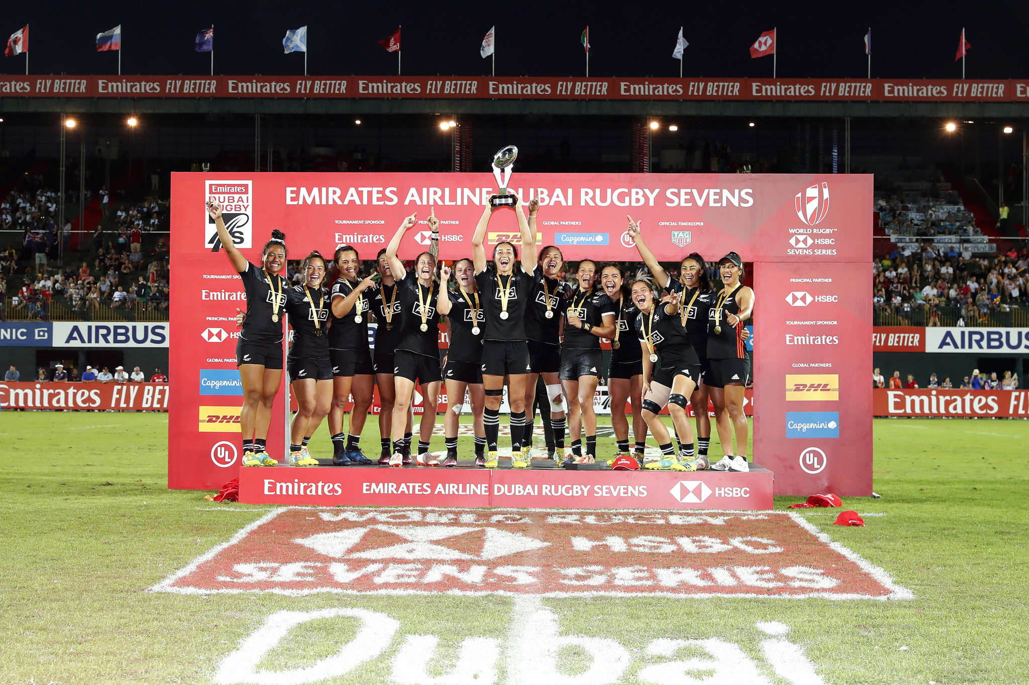 New Zealand beat Canada to win fifth consecutive World Rugby Women's Sevens Series title in Dubai