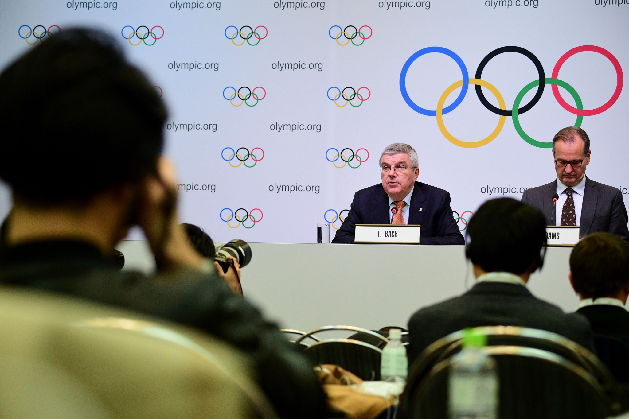 IOC President Thomas Bach announed the formation of the new committee after the Executive Board meeting ©Getty Images