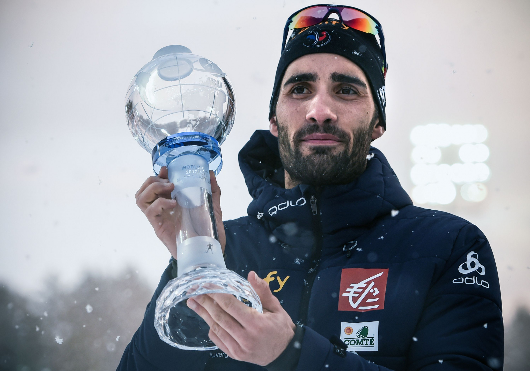 France's five-time Olympic champion Martin Fourcade  won the individual men's IBU World Cup title last season ©Getty Images