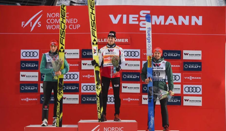 Norway's Nordic Combined specialist Jarl Magnus Riiber won his second World Cup title in as many days in Lillehammer ©FIS