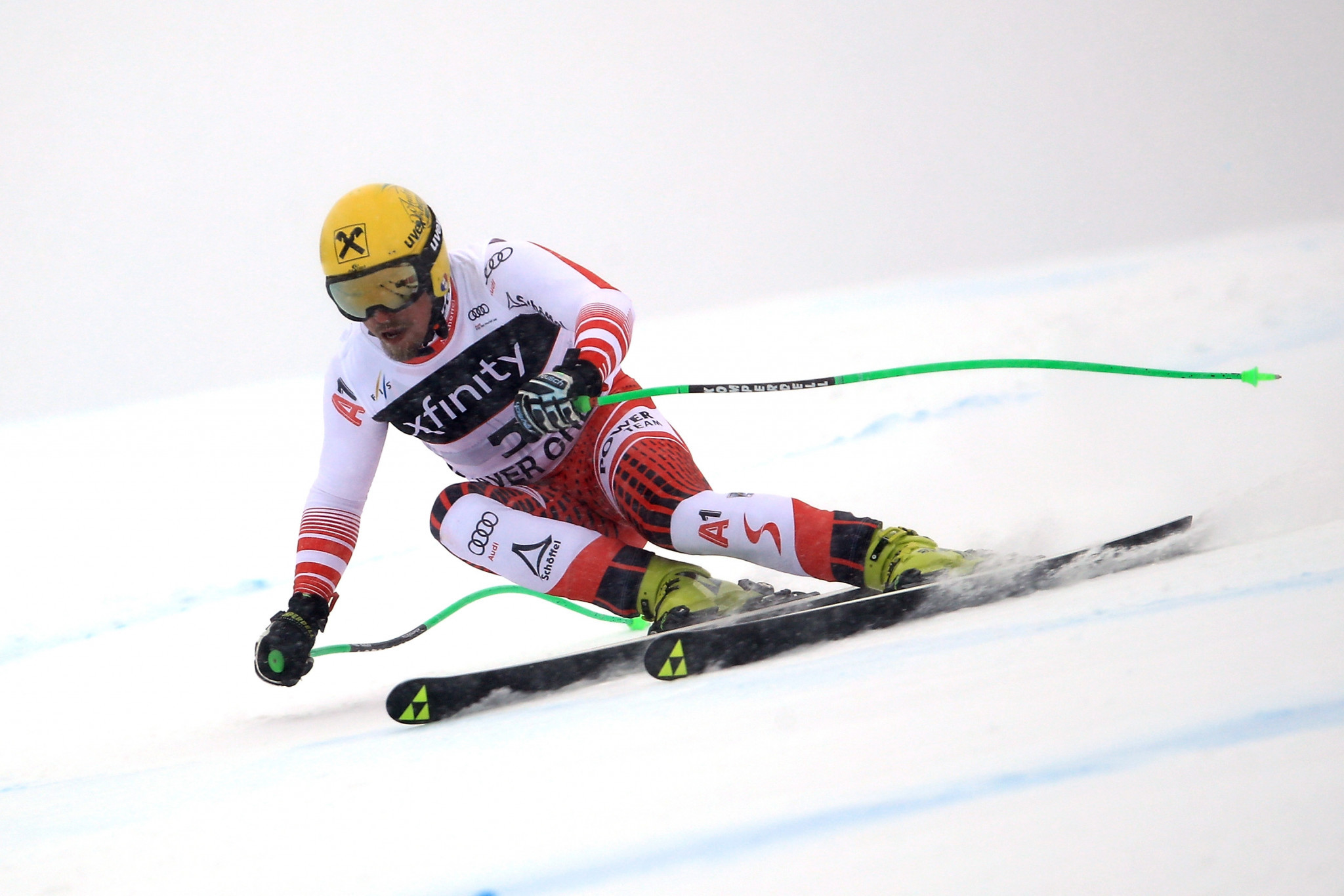 Max Franz secured victory in the men's super-G on the Birds of Prey course in Beaver Creek ©Getty Images