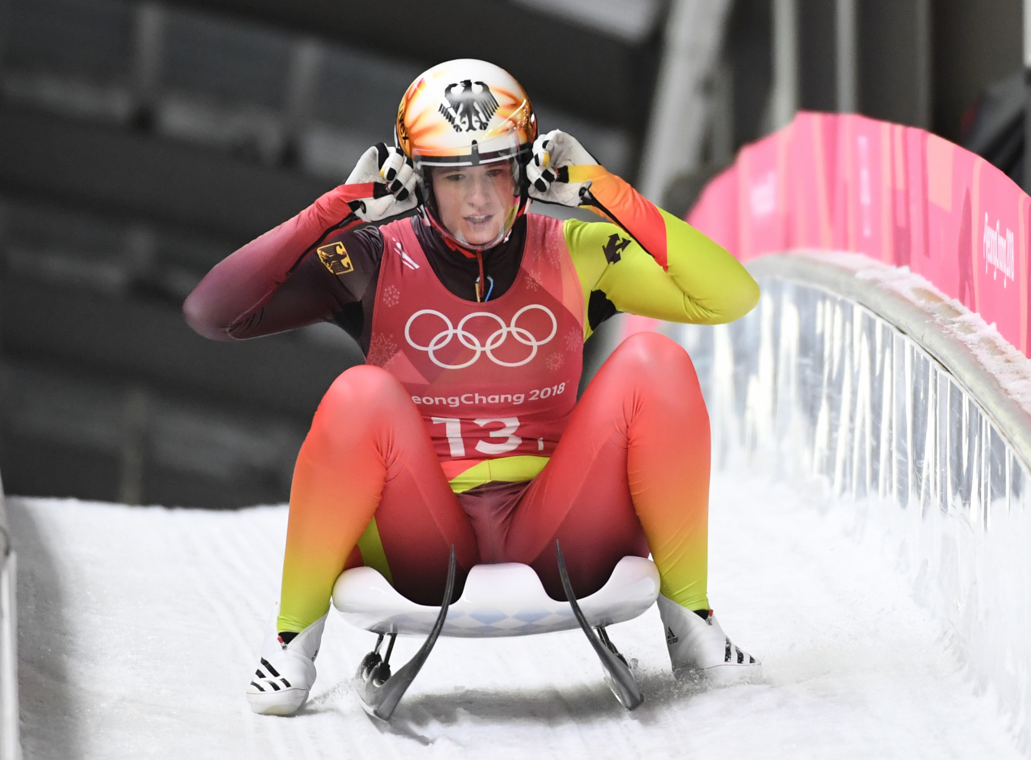 Four-time Olympic champion Natalie Geisenberger of Germany maintained her perfect start to the new Luge World Cup season ©Getty Images