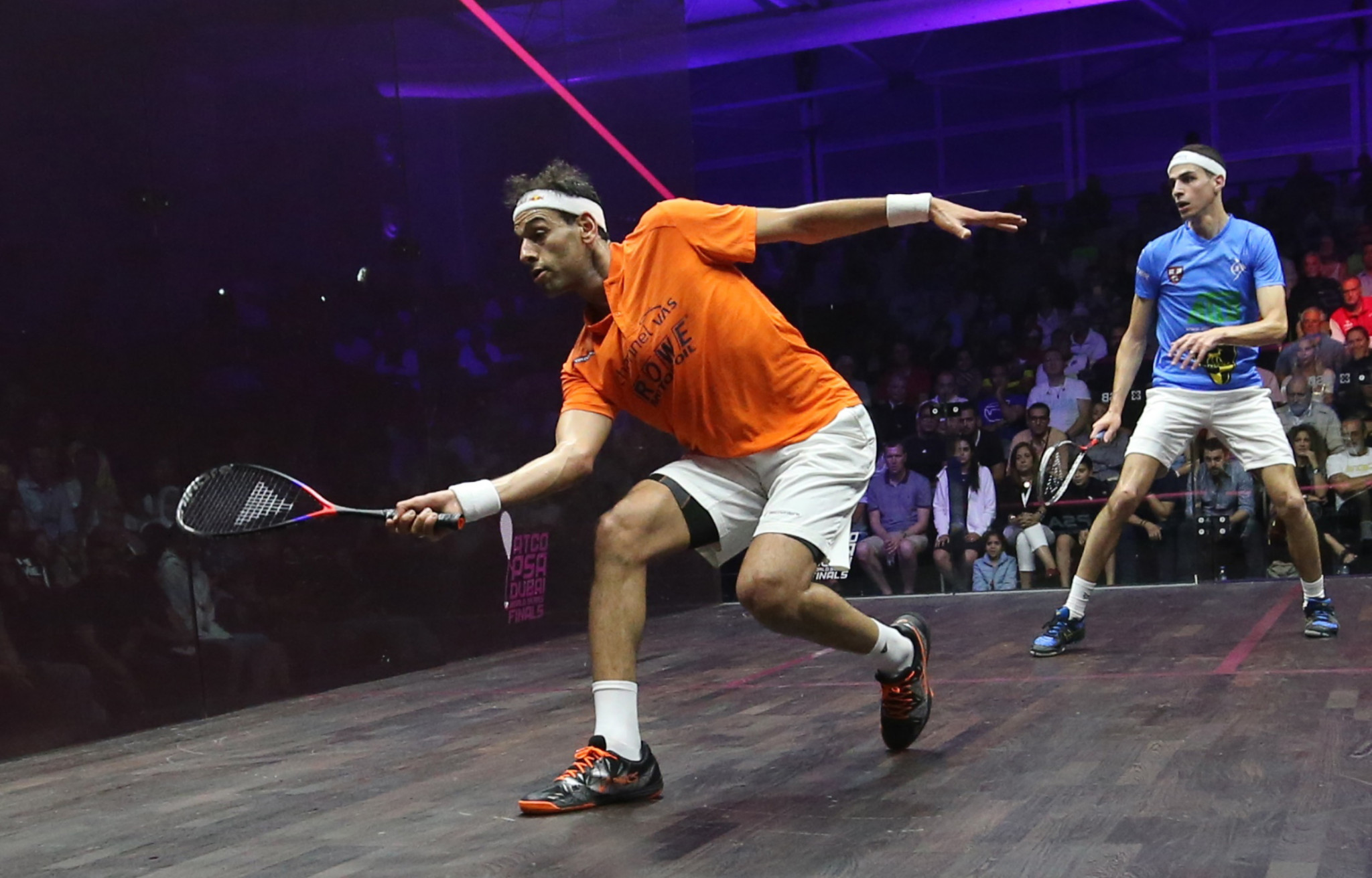"Mohamed ElShorbagy, the top seed at the Black Ball Squash Open, is looking forward to playing in front of an ""immense"" home crowd ©Getty Images"