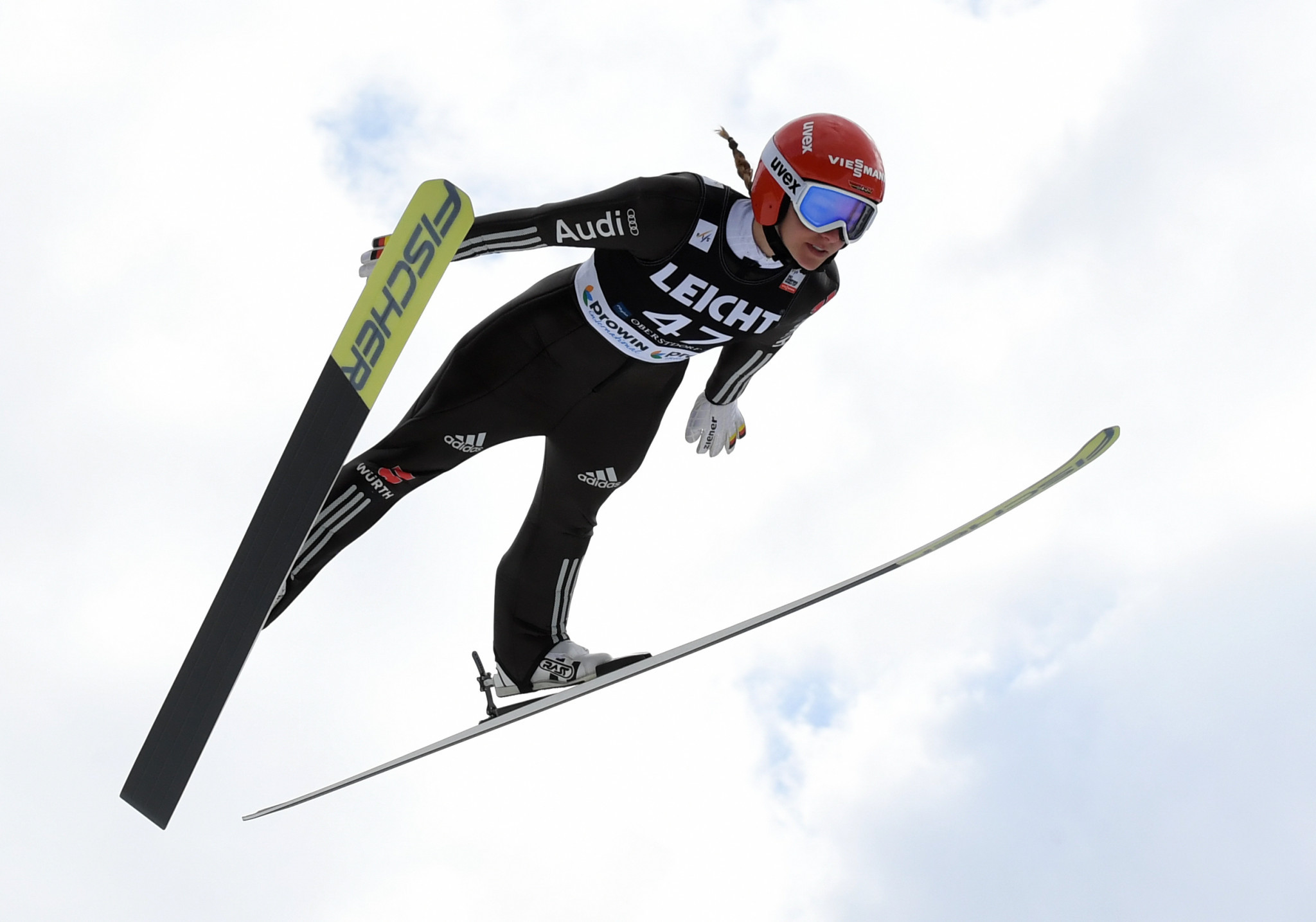 Katharina Althaus won the women's ski jumping contest today ©Getty Images