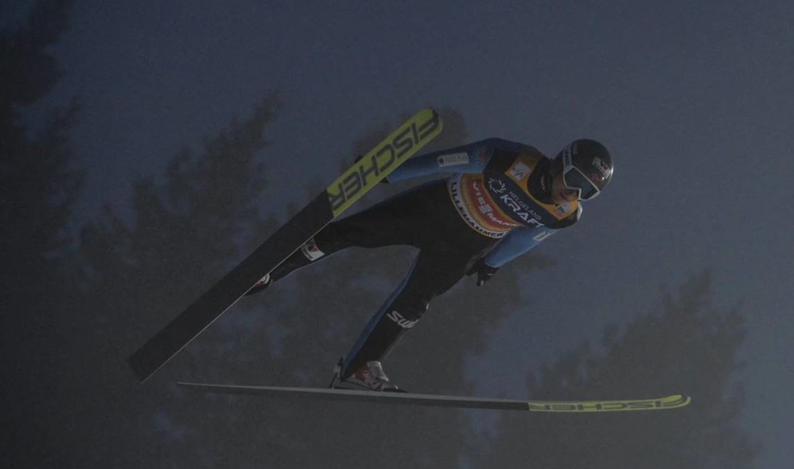 Jarl Magnus Riiber triumphed in the Nordic Combined contest ©FIS