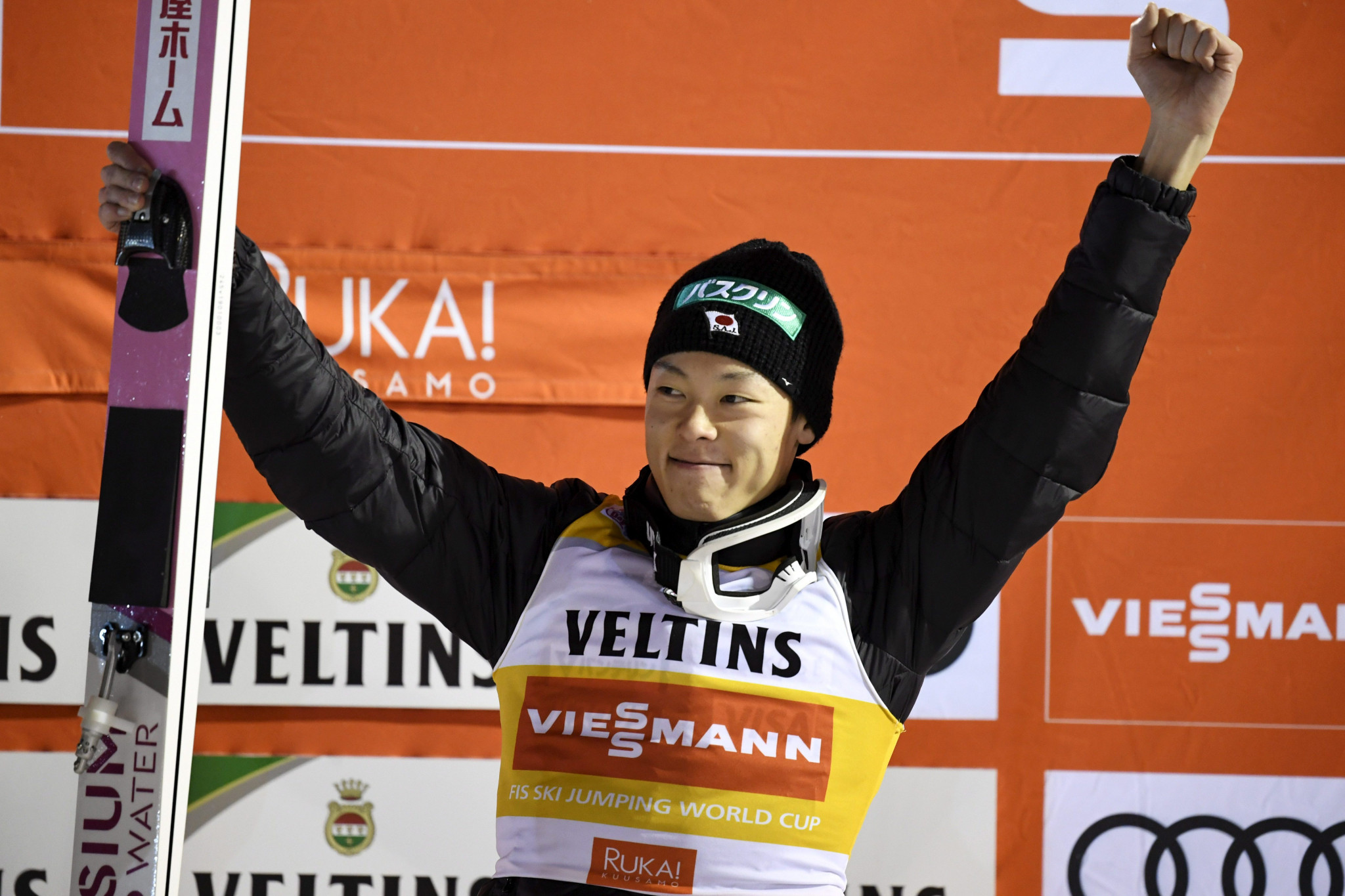 Japan's Ryoyu Kobayashi won his second FIS Ski Jumping World Cup event of this season and his career ©Getty Images