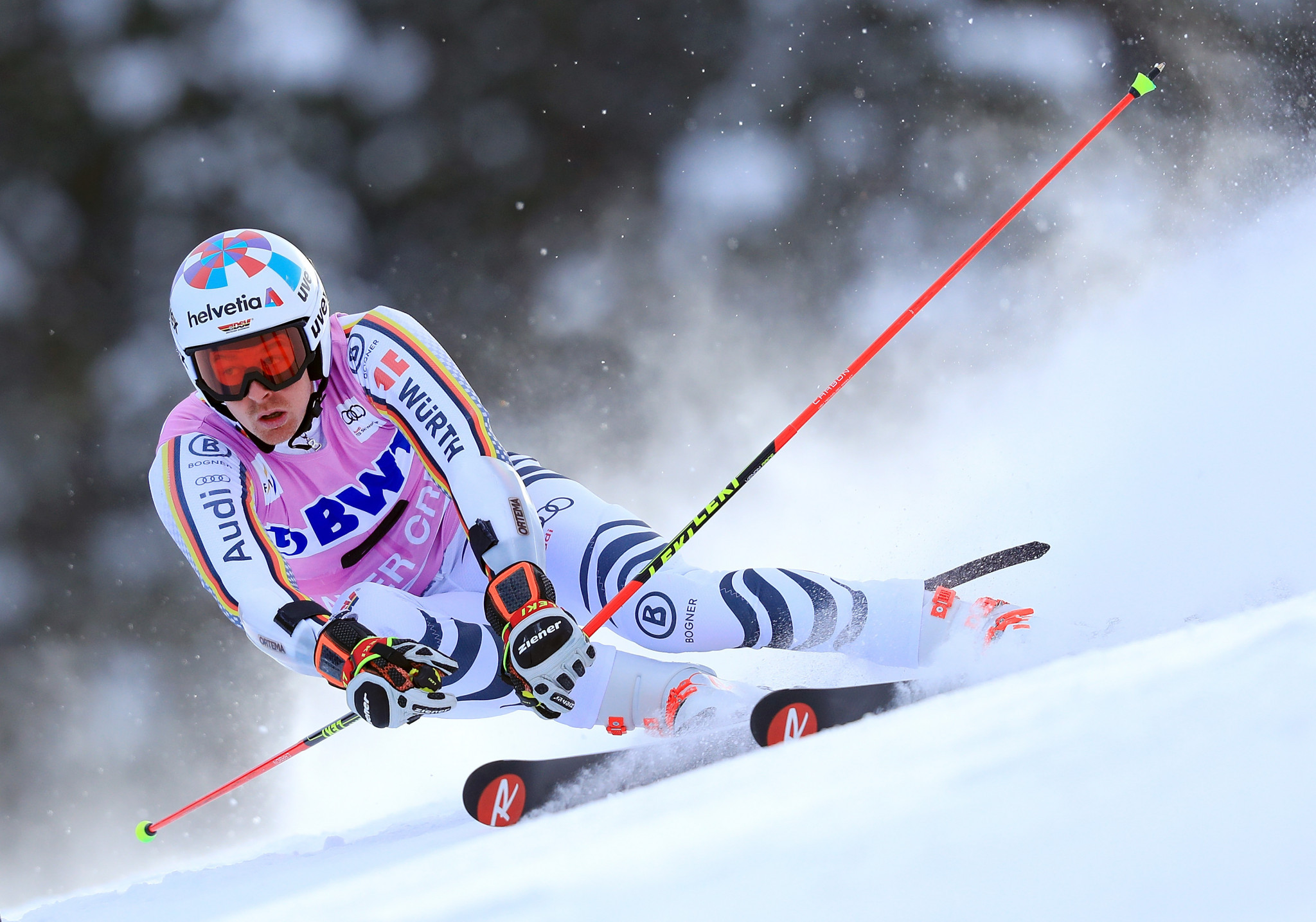 Germany's Stefan Luitz topped a World Cup podium for the first time in his career ©Getty Images