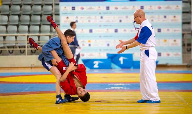 Sambo originates from the Soviet Red Army, where it was developed to improve hand-to-hand combat skills ©FIAS