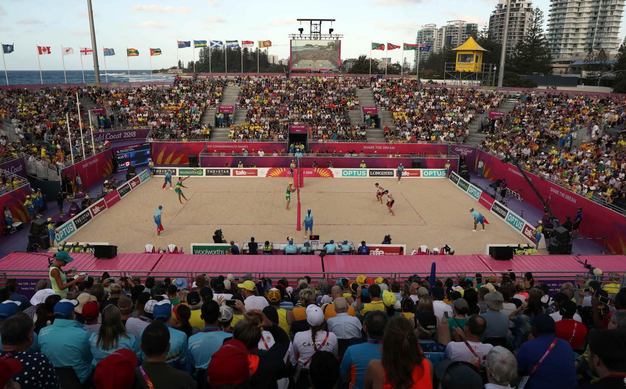 Beach volleyball was a popular addition to the Commonwealth Games programme at Gold Coast 2018 and there is pressure to add it for Birmingham 2022 ©Getty Images
