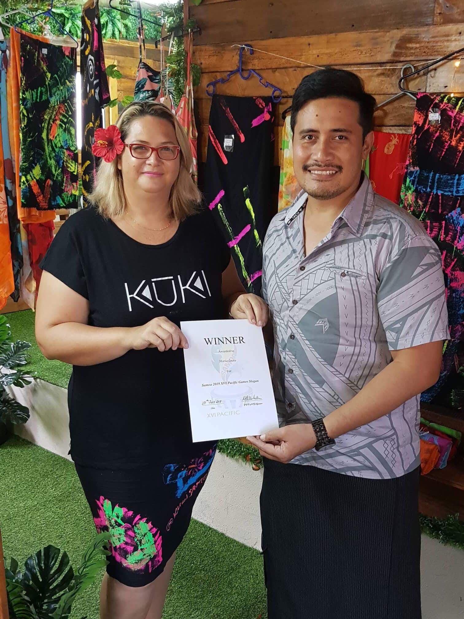 A breakdown in the working relationship with Samoa 2019 chief executive Falefata Hele Matatia, right, is said to have led to the resignation of Aveau Niko Palamo ©Samoa 2019