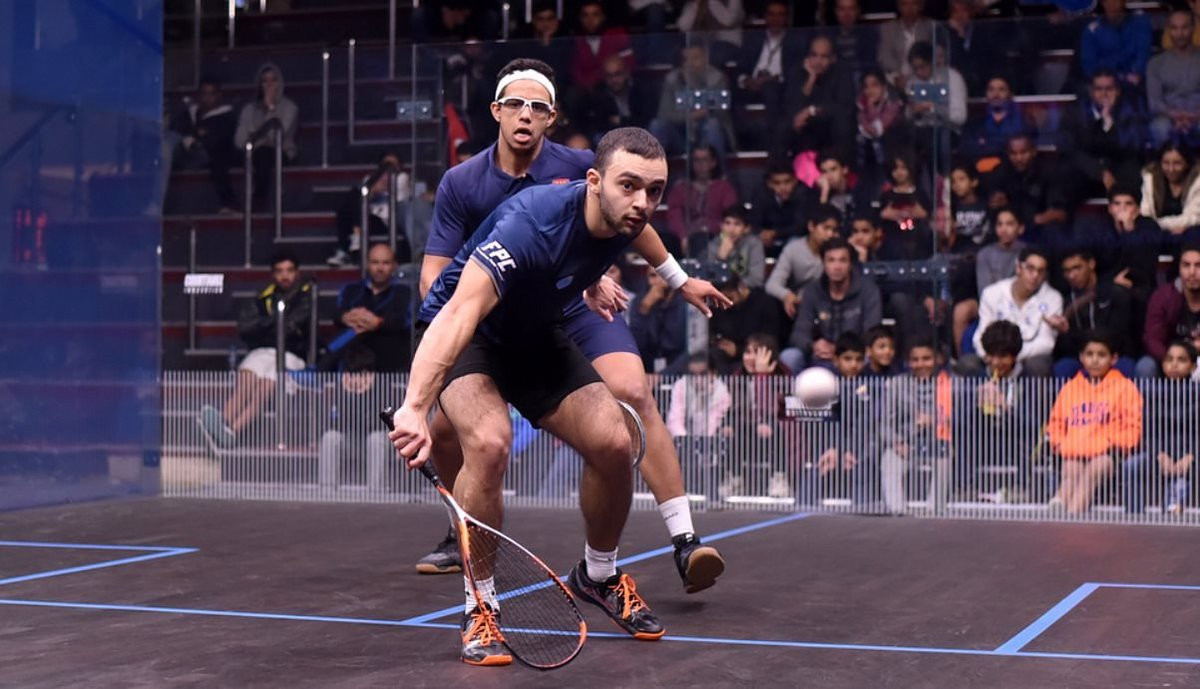 It took Egpyt's Mostafa Asal 89 minutes to beat compatriot Youssef Soliman and progress to the second round of the Black Ball Squash Open in Cairo ©Black Ball Squash