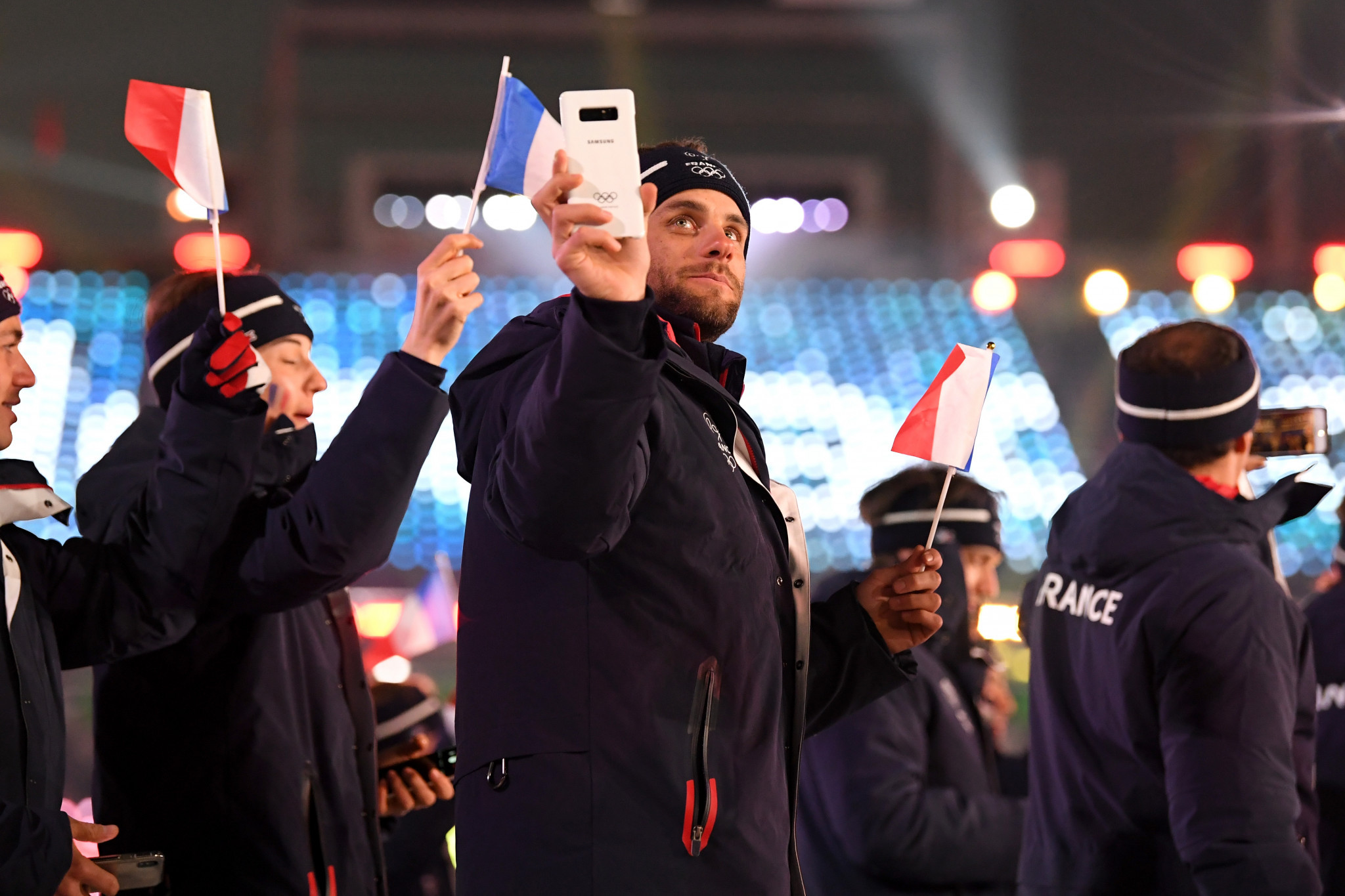 Athletes will continue to receive limited edition Olympic phones from Samsung during the Games ©Getty Images