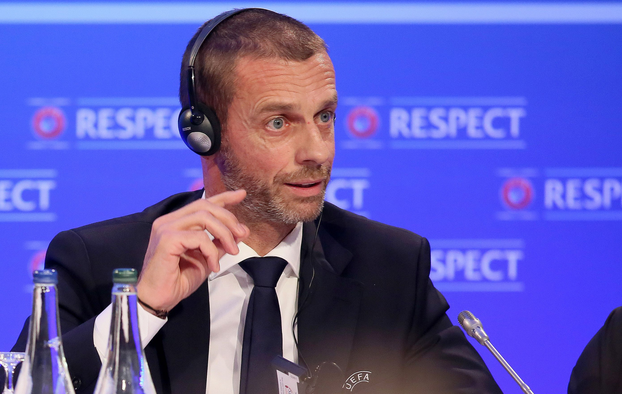 "UEFA President Aleksander Čeferin has said he is ""not in favour"" of a bid for the 2030 World Cup from Spain, Portugal and Morocco ©Getty Images"