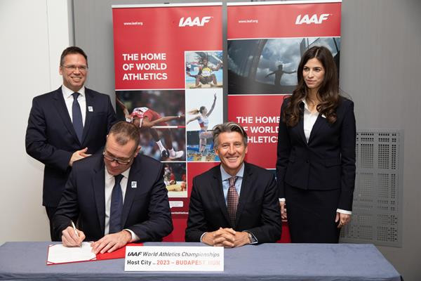 Budapest was today officially confirmed as the host city of the 2023 International Association of Athletics Federations World Championships ©IAAF
