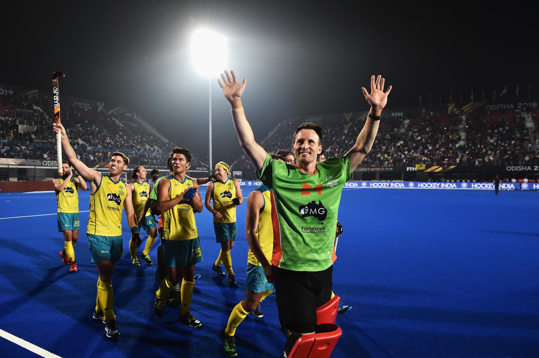 Defending champions Australia through to quarter-finals at FIH Men's Hockey World Cup