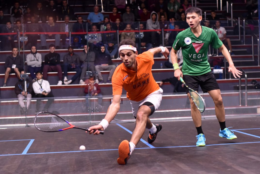 Top seed Elshorbagy makes winning start at Black Ball Squash Open in Cairo