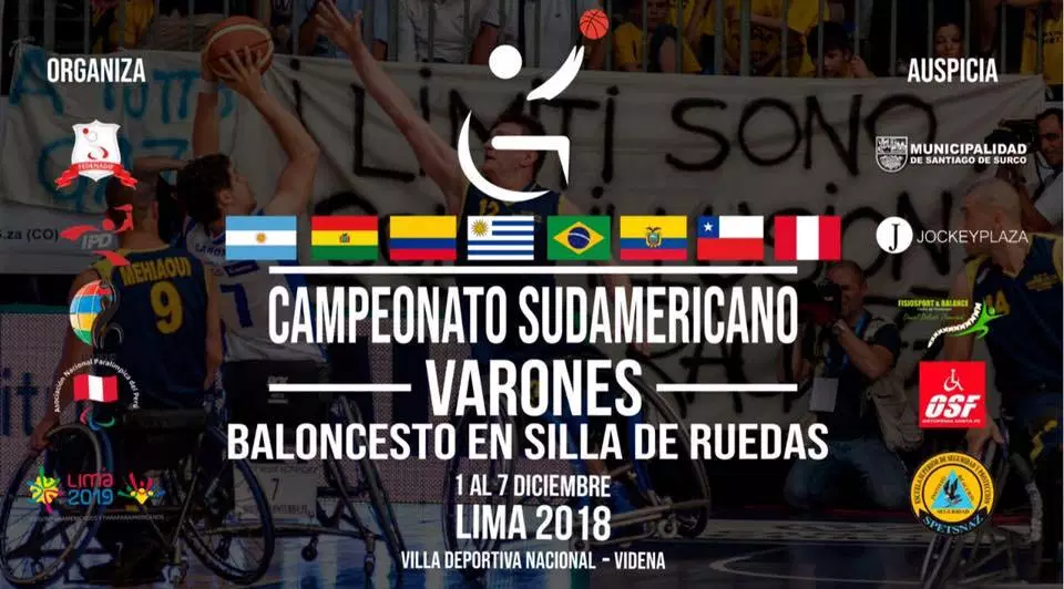Teams discover quarter-final opponents at IWBF Men's South America Championship
