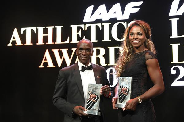 Kenya's Eliud Kipchoge and Colombia's Caterine Ibarguen have been voted the 2018 IAAF World Athletes of the Year ©IAAF