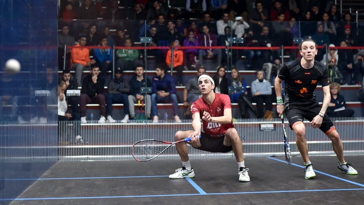 Second seed Farag breezes through to last-16 at Black Ball Squash Open in Cairo