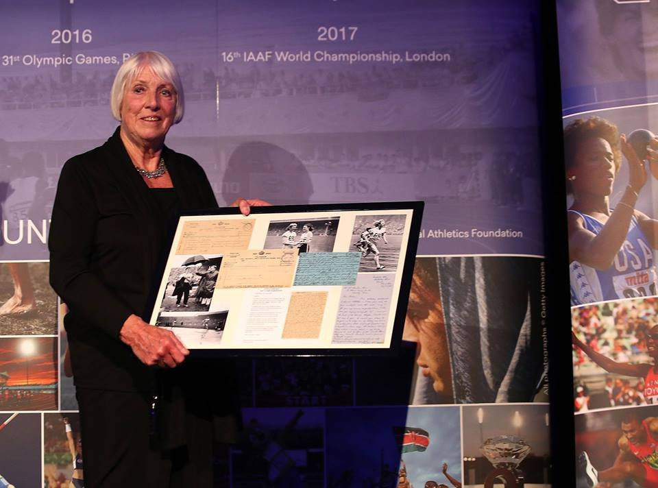 Letters and telegrams sent to Fanny Blankers-Koen, who won four golds at the 1948 London Olympics, were presented to the IAAF Heritage Collection in Monaco this week by her daughter, Fanny Blankers ©IAAF