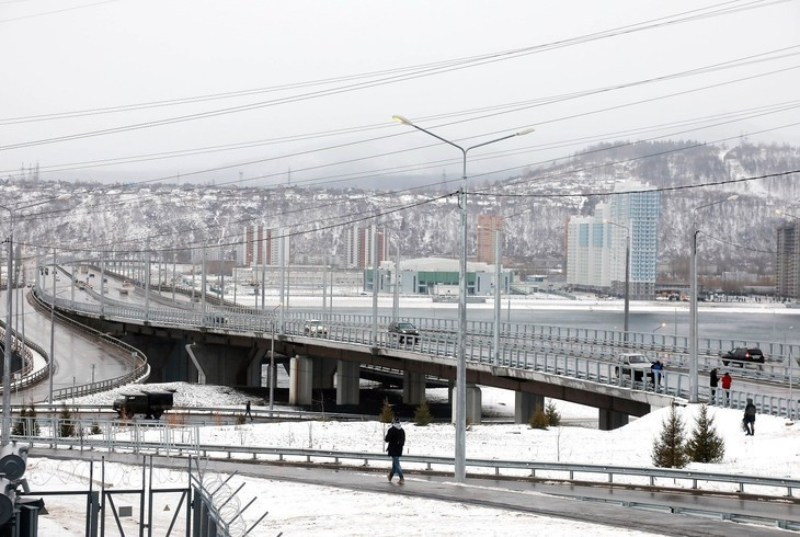 A new highway has been opened in Krasnoyarsk which will be used at the 2019 Winter Universiade © Press Service of the Government of the Krasnoyarsk Territory ©FISU
